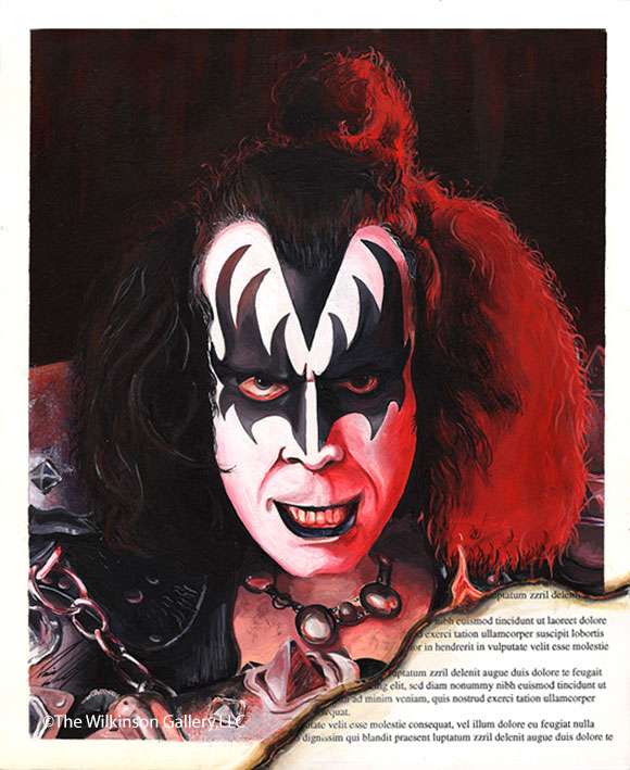 KISS' Gene Simmons by David E. Wilkinson