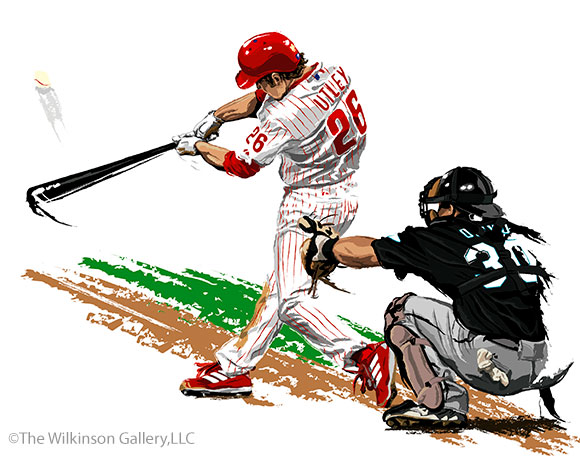 Phillies' Chase Utley by David E. Wilkinson