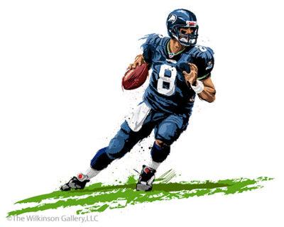 Seahawks' Matt Hasselbeck by David E. Wilkinson