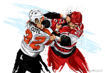 Flyers Enforcer Riley Cote by David E. Wilkinson