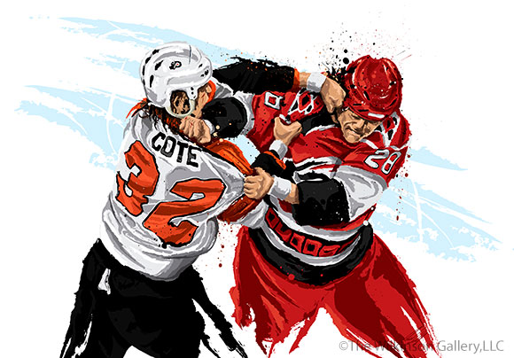 Flyers Enforcer Riley Cote by David E. Wilkinson