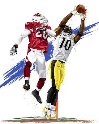 Super Bowl XLIII MVP Santonio Holmes by David E. Wilkinson