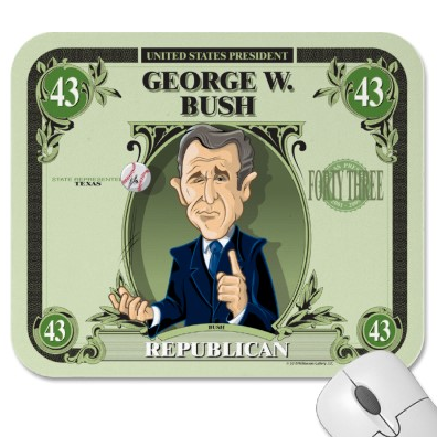 George W. Bush Mouse Pad by David E. Wilkinson