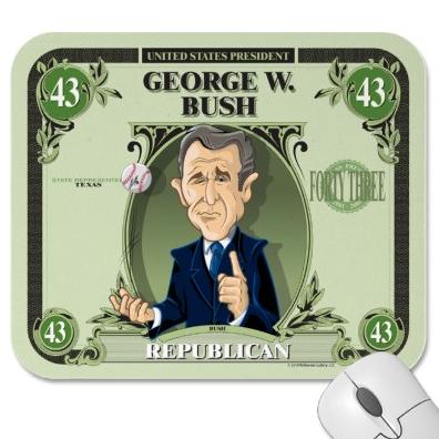 George W. Bush Mouse Pad by David E. Wilkinson