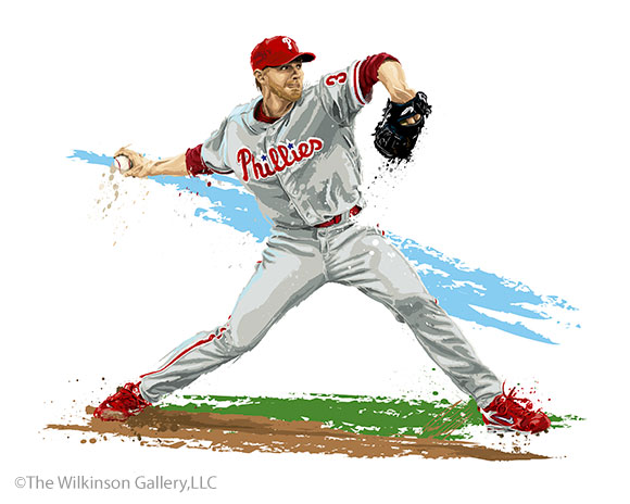 Philadelphia Phillies Pitcher Roy Halladay by David E. Wilkinson