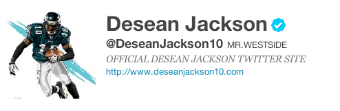 DeSean Twitter screenshot