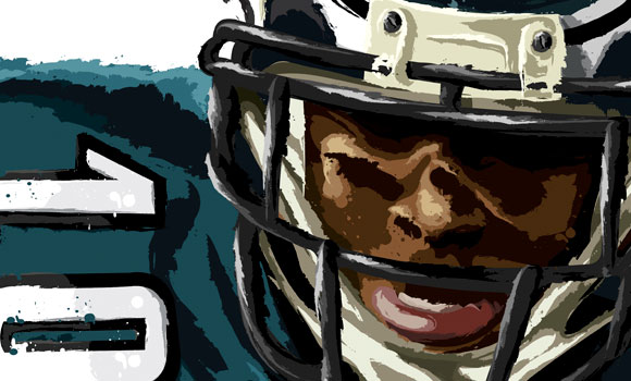 Philadelphia Eagles' DeSean Jackson [Detail] by David E. Wilkinson