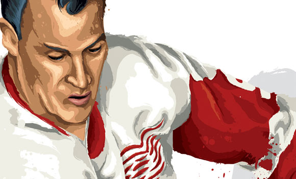 """Mr Hockey"" Gordie Howe [detail] by David E. Wilkinson"