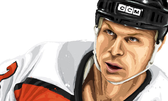 Mark Howe [detail] by David E. Wilkinson