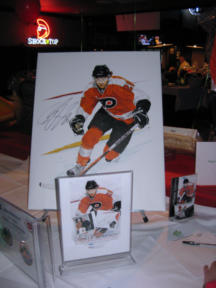 David E. Wilkinson's Claude Giroux Portrait at the Salt Shaker Foundation's charity Event