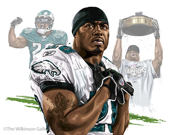 Philadelphia Eagles' Brian Dawkins [finial design] by David E. Wilkinson
