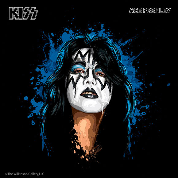 KISS Ace Frehley Art by David E. Wilkinson