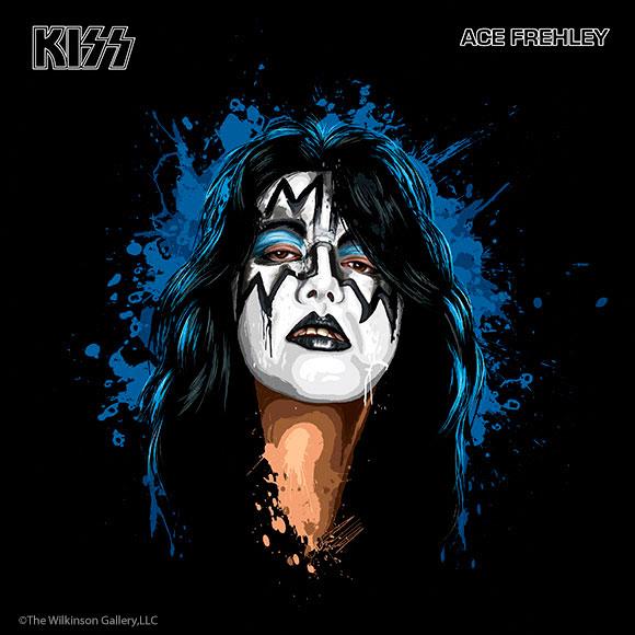 KISS Ace Frehley Art by David E. Wilkinson