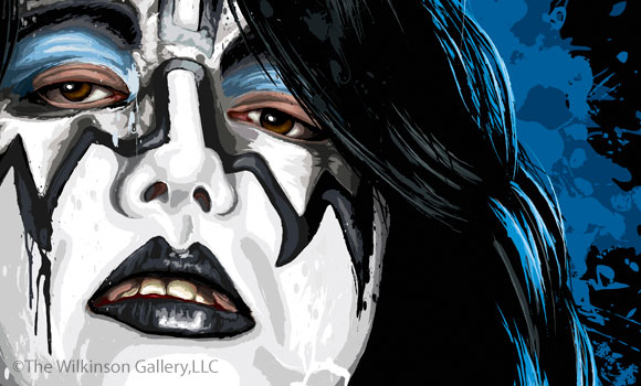 KISS Ace Frehley Art [detail] by David E. Wilkinson
