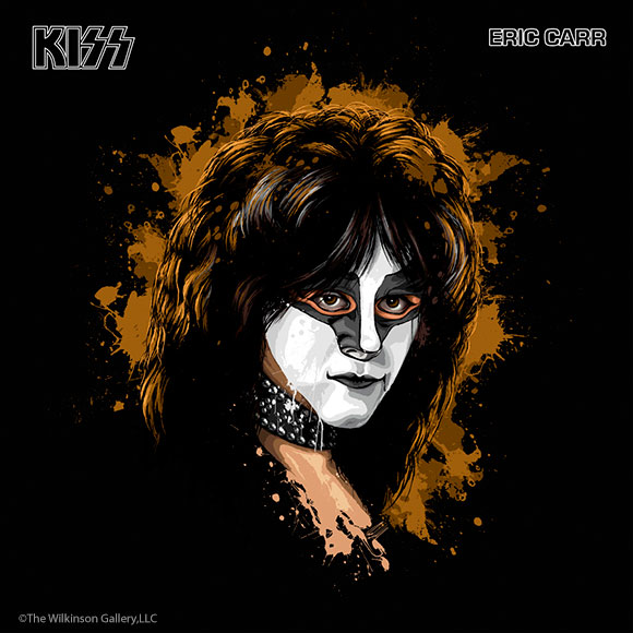 KISS Eric Carr Art by David E. Wilkinson