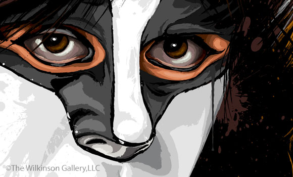 KISS Eric Carr Art [detail] by David E. Wilkinson
