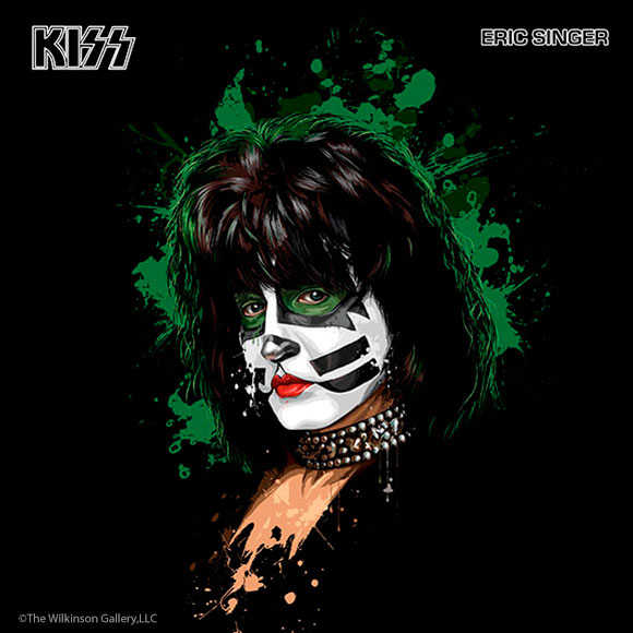 KISS Eric Singer Art by David E. Wilkinson