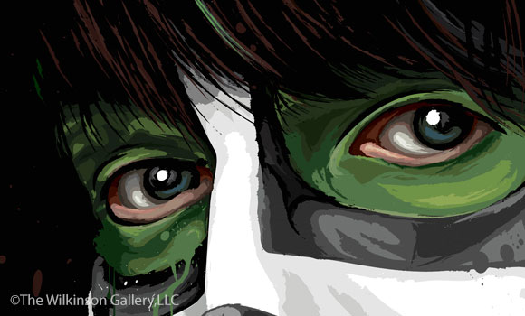 KISS Eric Singer Art [detail] by David E. Wilkinson