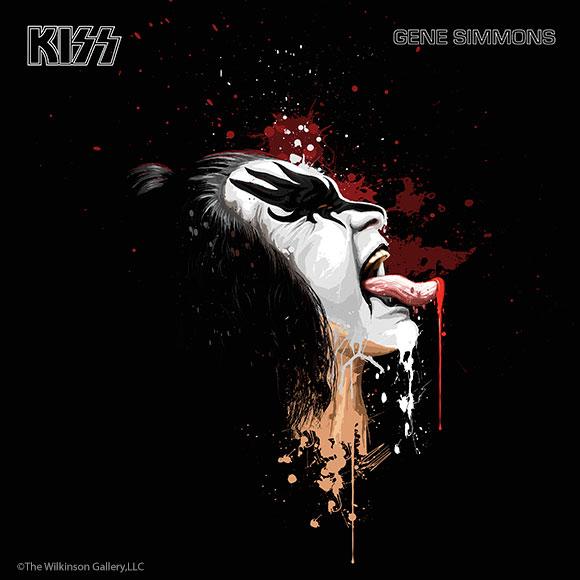 KISS Gene Simmons Art by David E. Wilkinson