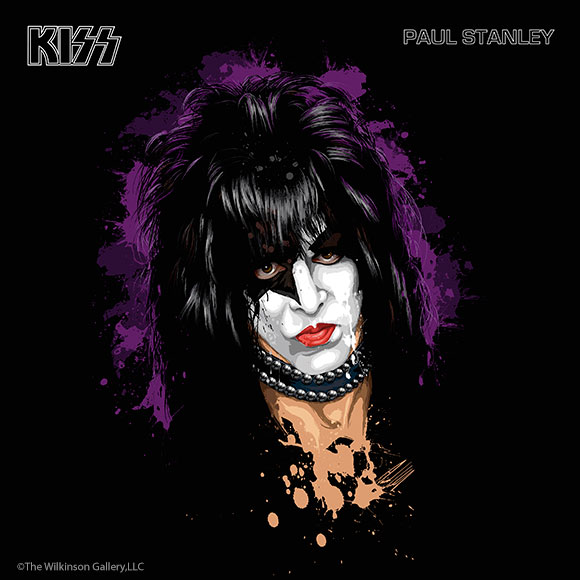 KISS Paul Stanley Art by David E. Wilkinson