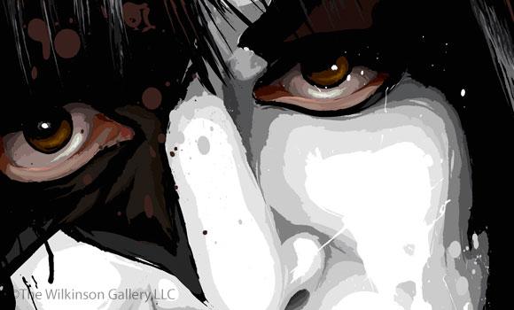 KISS Paul Stanley Art [detail] by David E. Wilkinson