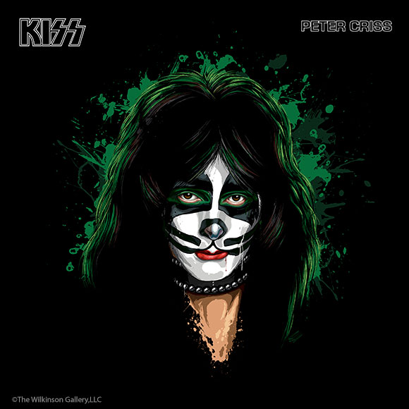 KISS Peter Criss Art by David E. Wilkinson