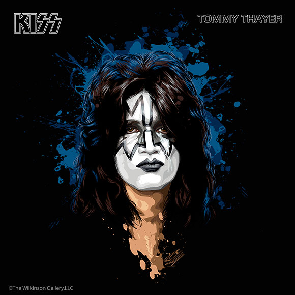 KISS Tommy Thayer Art by David E. Wilkinson