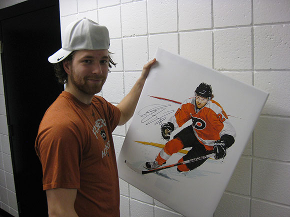 Flyers' Forward Claude Giroux