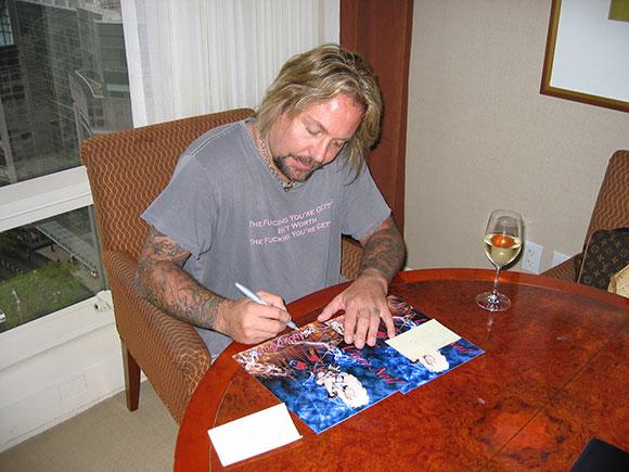 Musician Vince Neil of Motley Crue