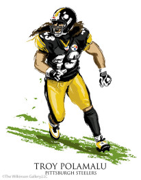 Pittsburgh Steelers' Troy Polamalu
