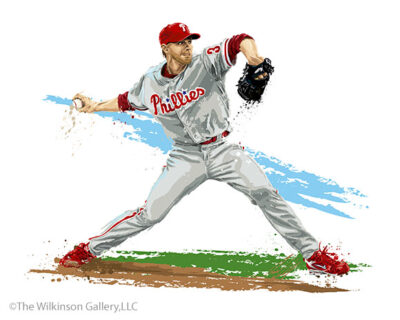 Philadelphia Phillies Pitcher Roy Halladay by David E. Wilkinson
